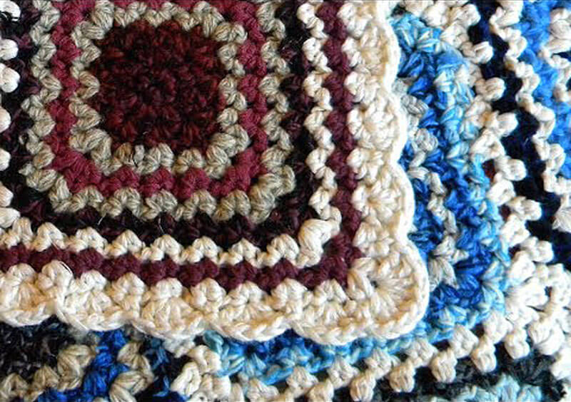 Tutorial coperta granny square all 39 uncinetto - Coperta uncinetto piastrelle ...