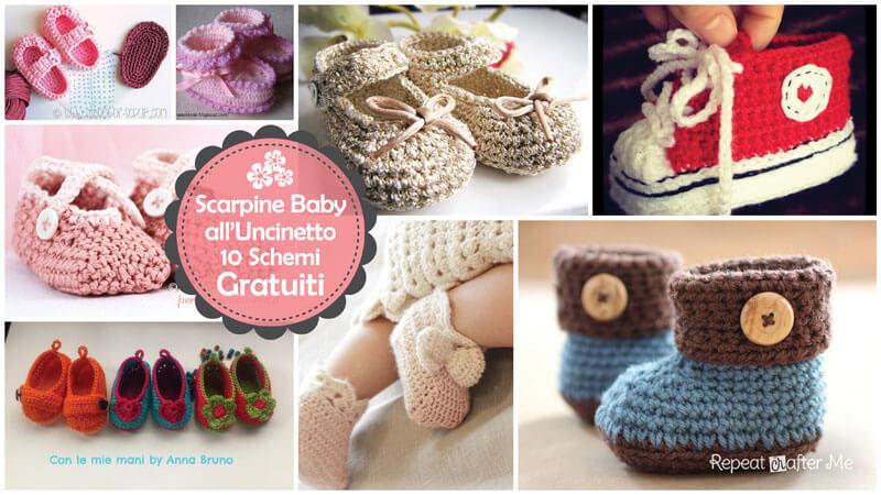 Scarpine Baby Alluncinetto 10 Schemi Gratuiti